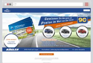 Gewinnspiel-Cases Automotive Ford Kögler