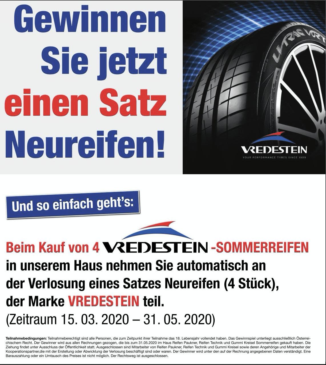 Gewinnspiel-Cases Automotive Vredestein