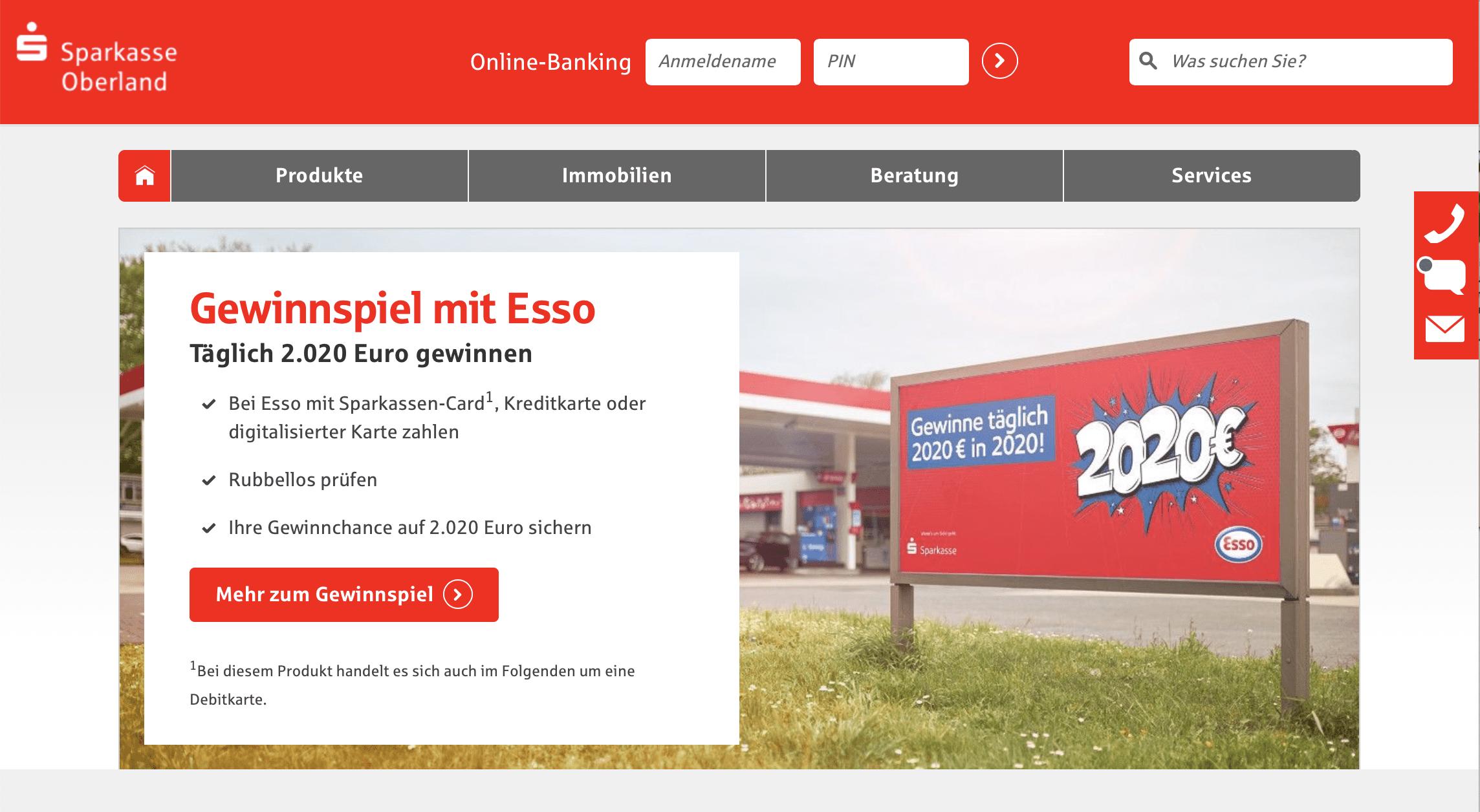 ESSO Rubbellos Sparkassencard Gewinnspiel-Cases Automotive