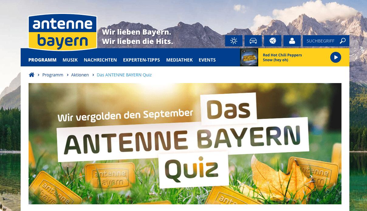 Gewinnspiel-Cases Radio & TV Antenne Bayern