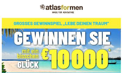 Atlas for Men 10.000€ Gewinnspiel