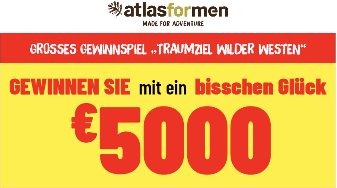 Atlas for Men 5.000€ Gewinnspiel