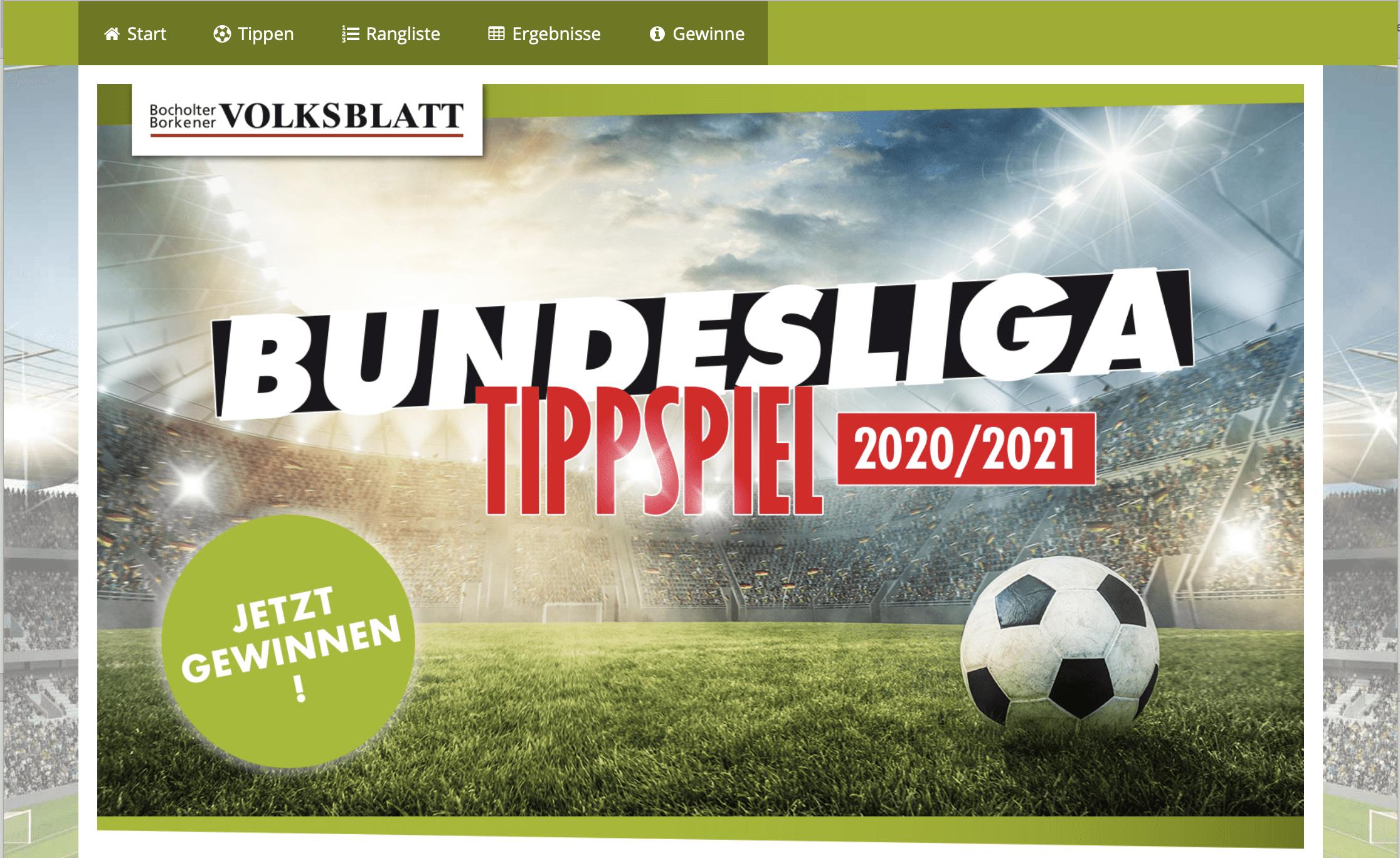 Tipp-Gewinnspiel BBV Online