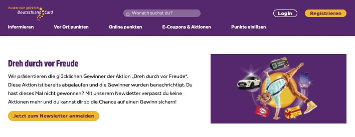 DeutschlandCard Dreh durch vor Freude Gewinnspiel-Cases Bonusprogramme