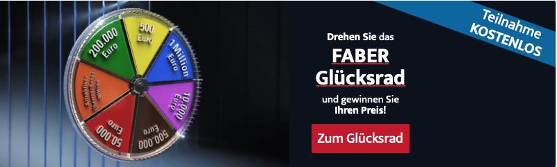 Faber Glücksrad-Gewinnspiel Leadgenerierung