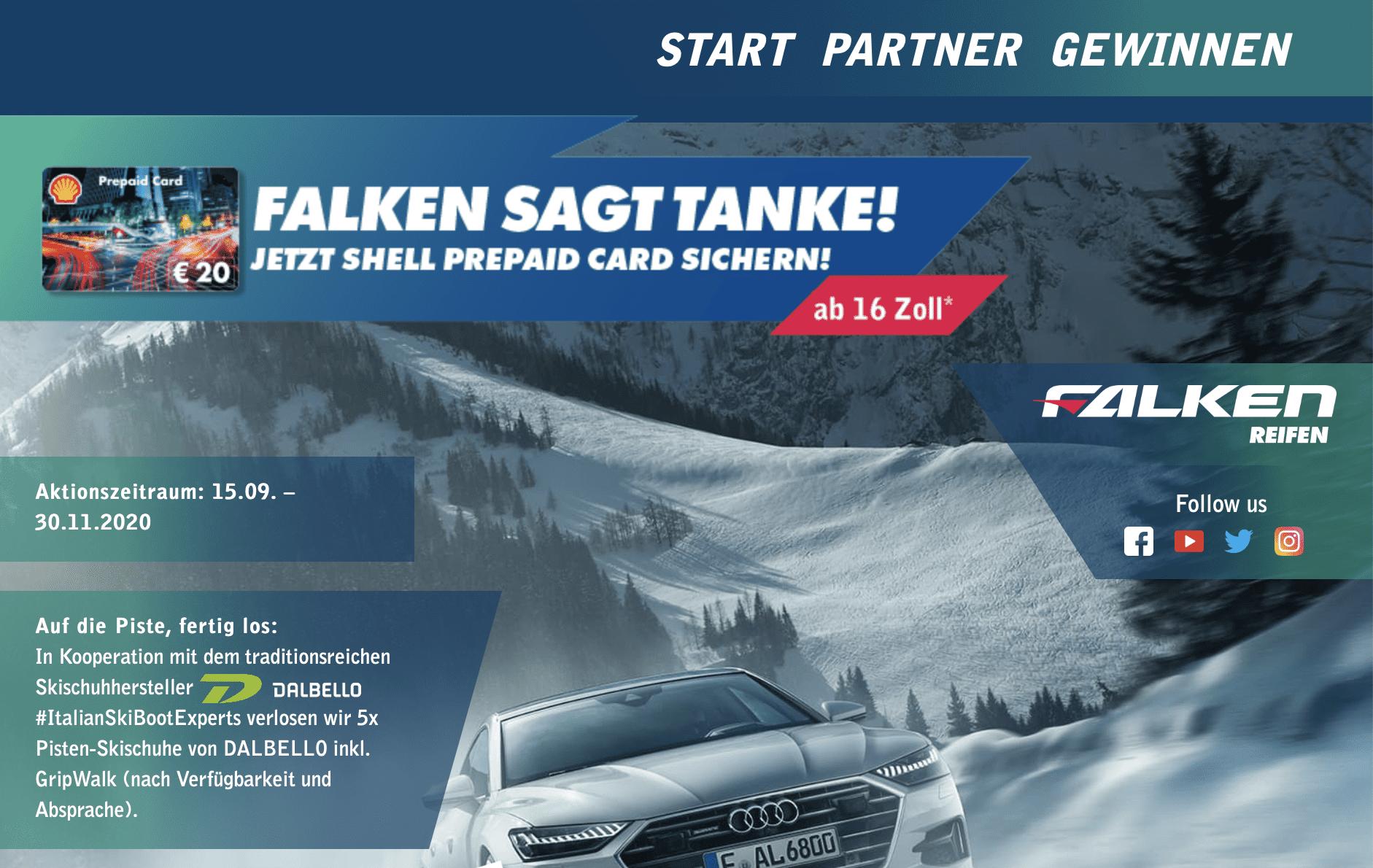 Falken sagt Tanke schön Gewinnspiel-Cases Automotive