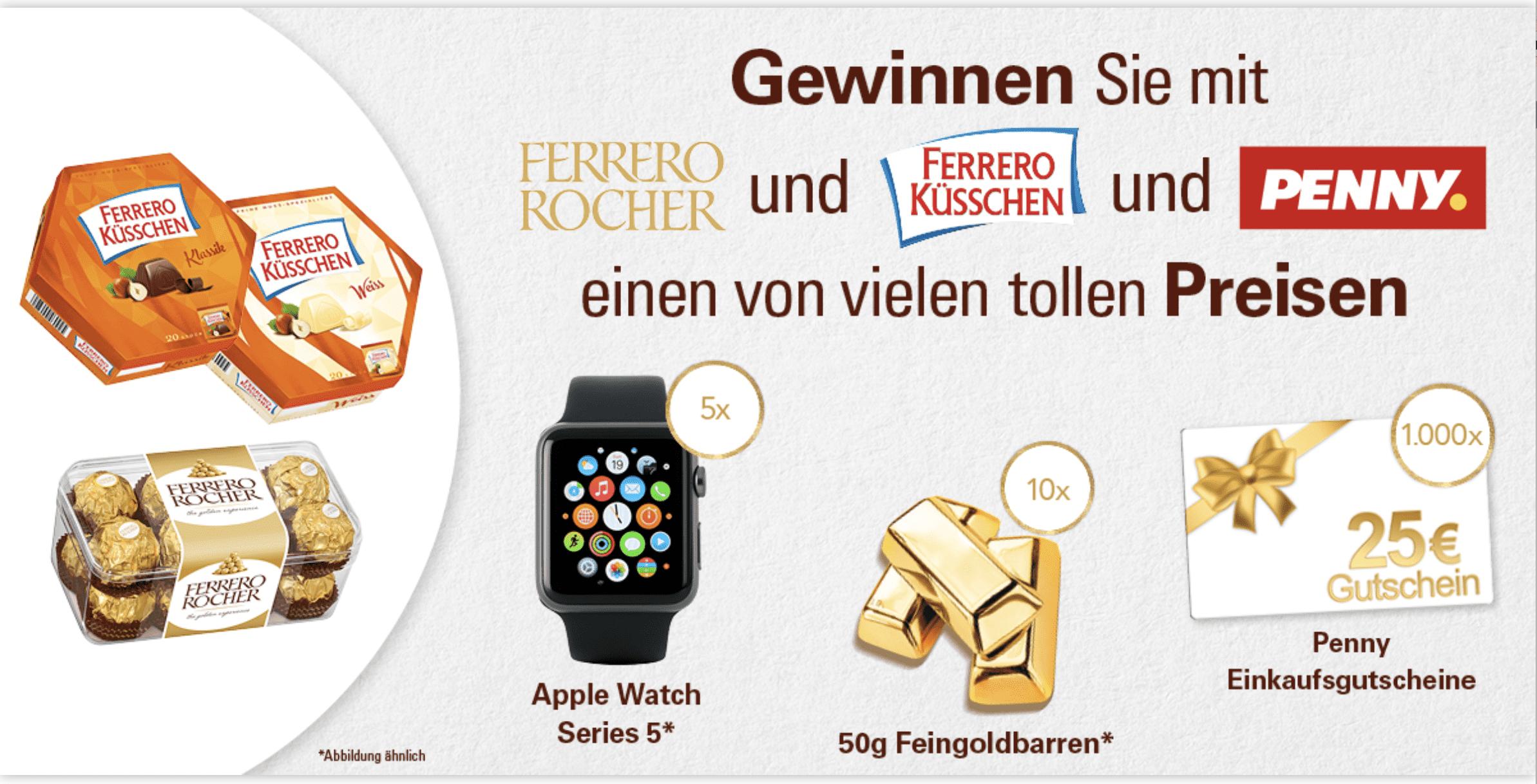 Ferrero-Gewinnspiel Gewinnspiel- Cases FMCG Süßwaren & Snacks
