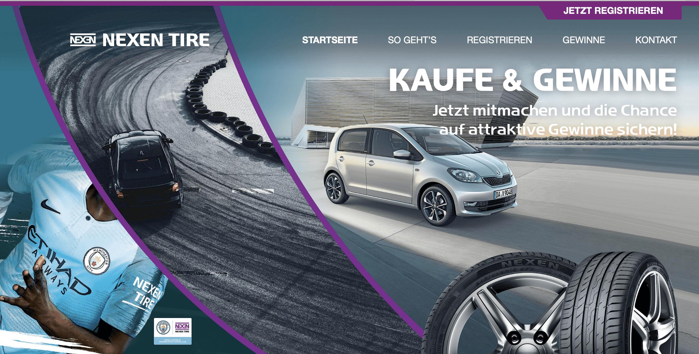 """Nexen Tire """"KAUFE & GEWINNE"""""""