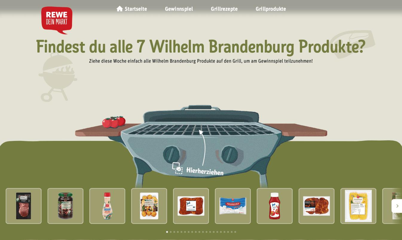Gewinnspiel-Cases Lebensmittelhandel Rewe Grillfest