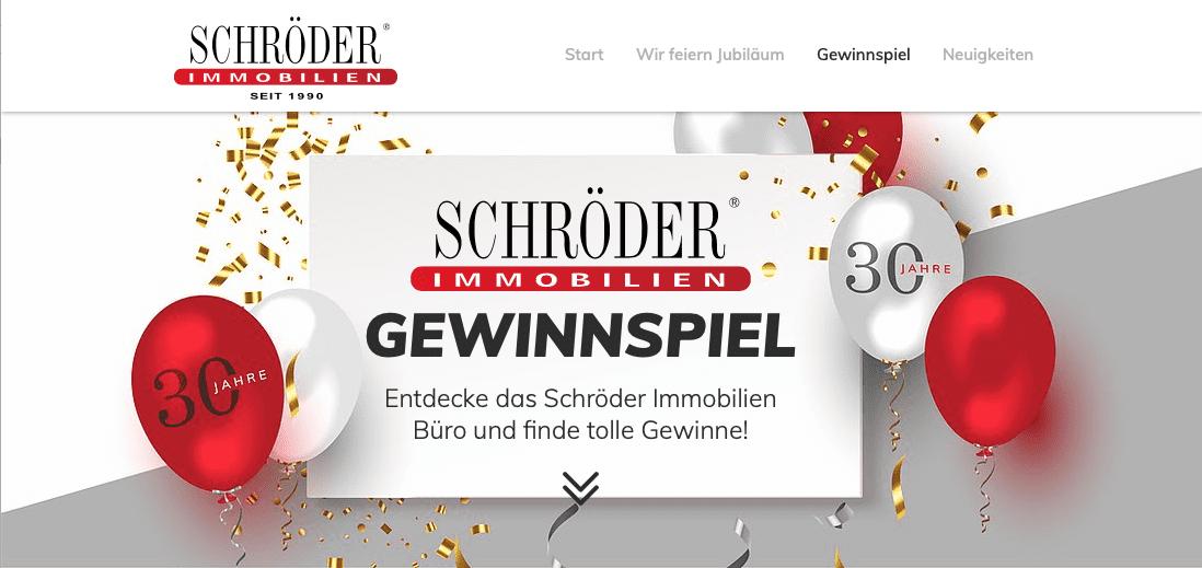Gewinnspiel-Cases Dienstleistungen & Handwerk Schröder Immobilien