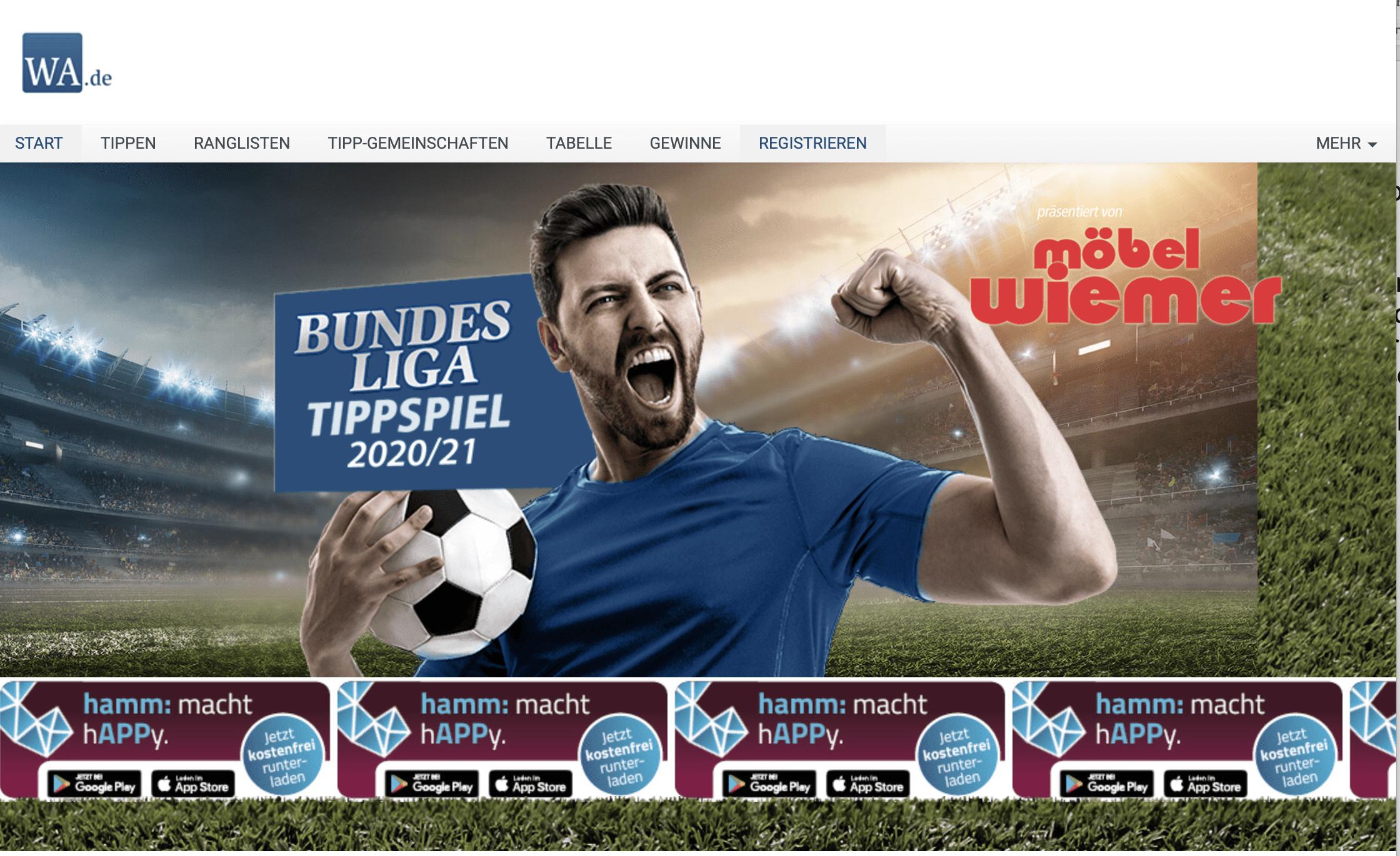Tipp-Gewinnspiel Westfälischer Anzeiger
