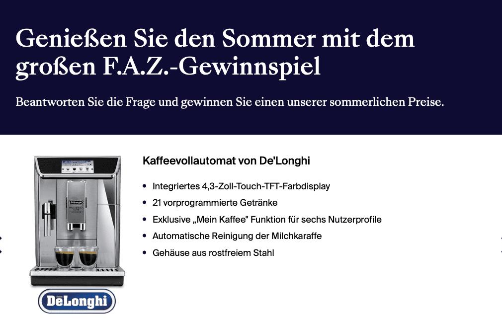 FAZ Gewinnspiel-Case Verlage