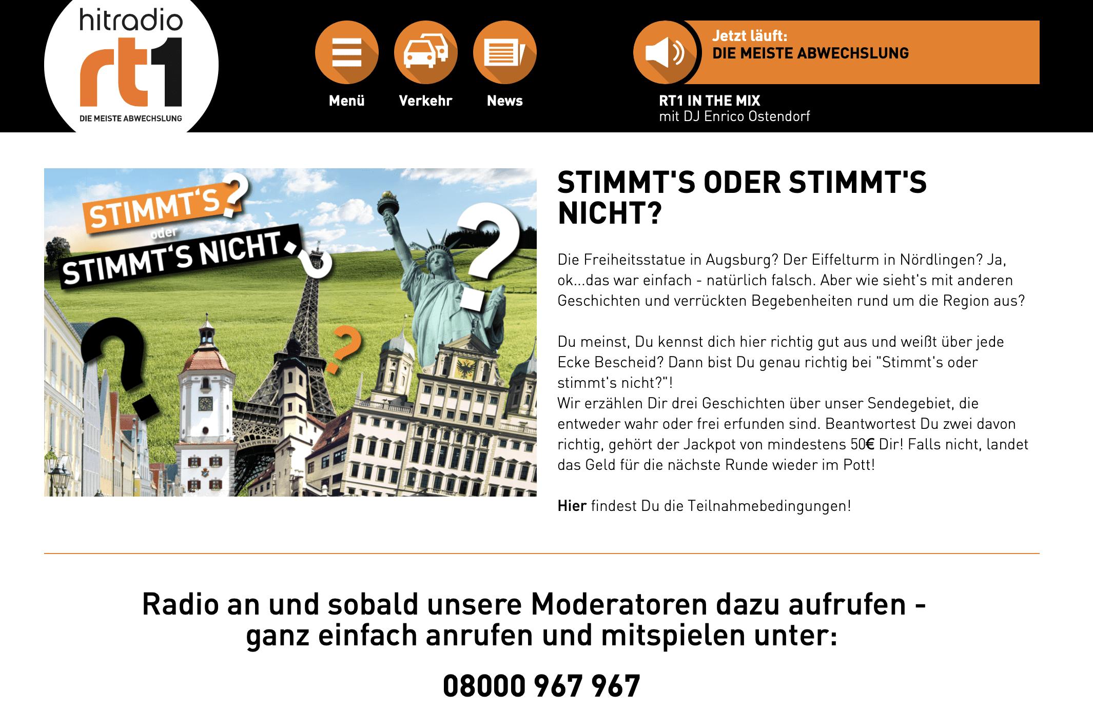 Gewinnspiel-Cases Radio & TV Hutradio rt1