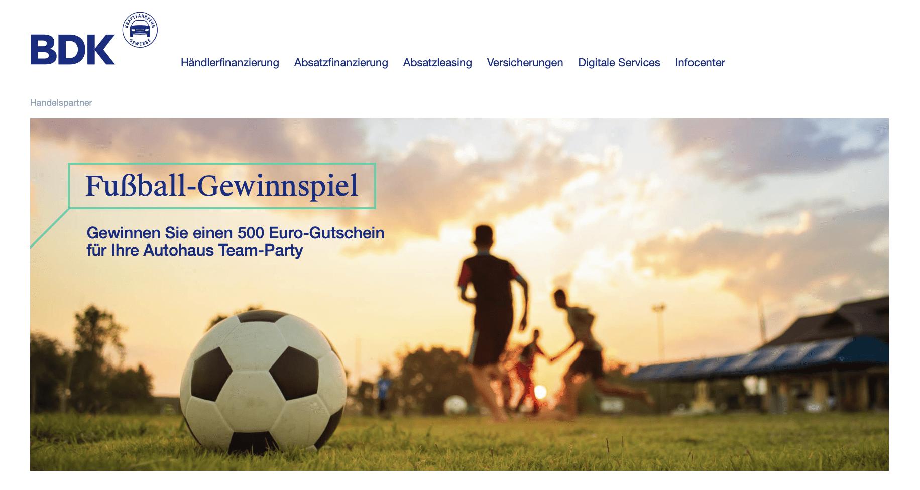 BDK-Bank: Fußball-Fieber 2020 Gewinnspiel-Cases Automotive