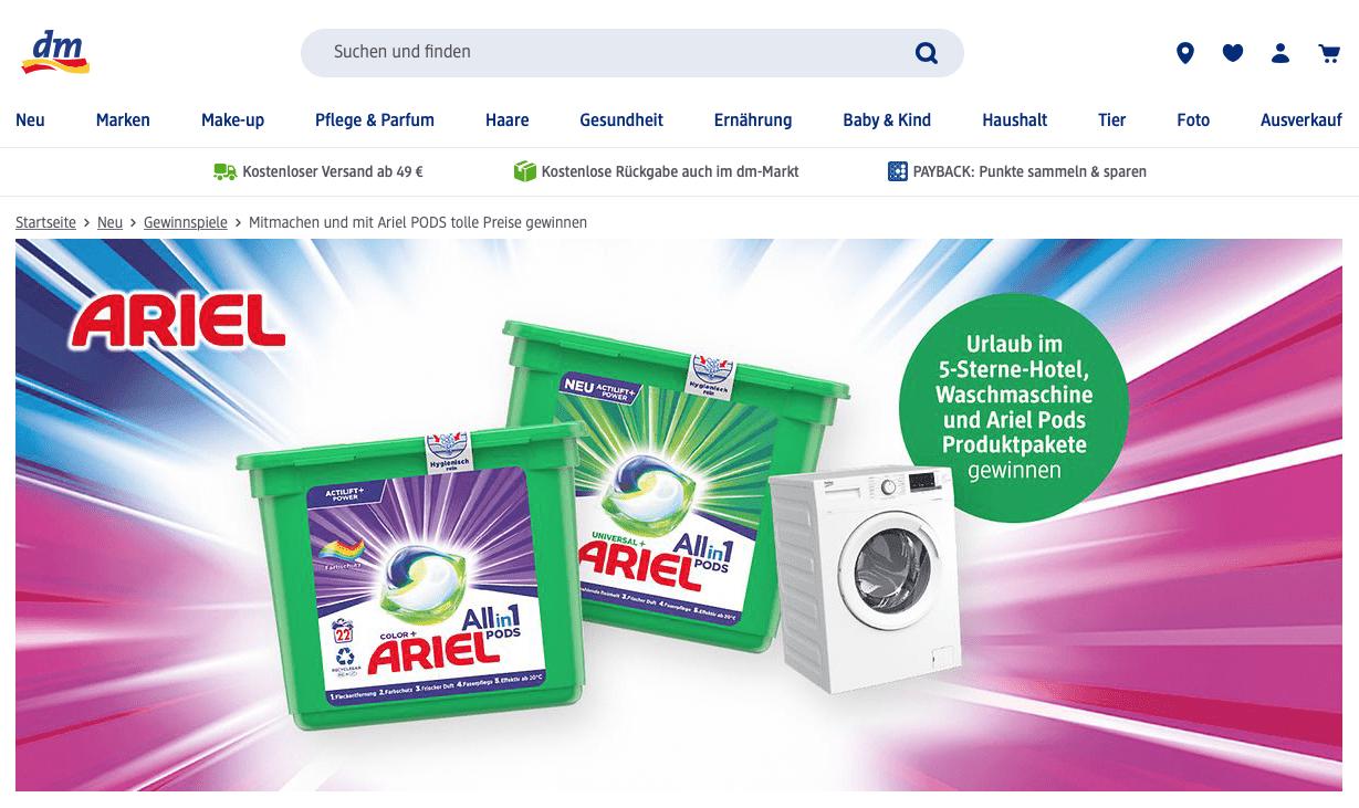 Ariel Gewinnspiel-Cases FMCG Non Food