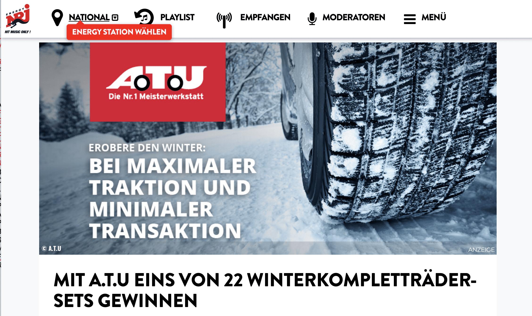Gewinnspiel-Cases Radio & TV A.T.U.