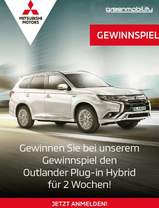 2-wöchige Testfahrt mit dem Mitsubishi Outlander PHEV gewinnen