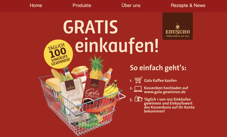 """Eduscho Cases """"Gewinn Deinen Einkauf zurück"""""""