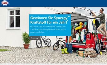 Esso verlost 10x 2.500 Euro Synergy Kraftsoff Tankgutscheine