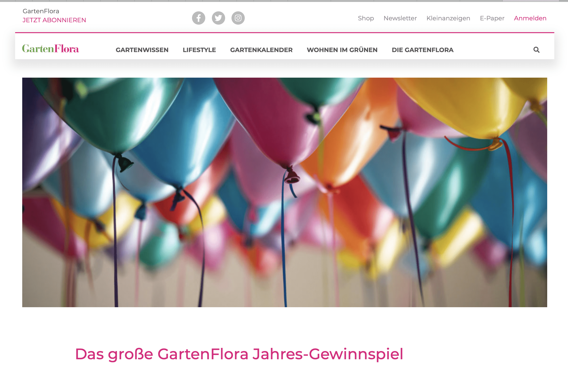 Gewinnspiel-Case Verlage Garten Flora