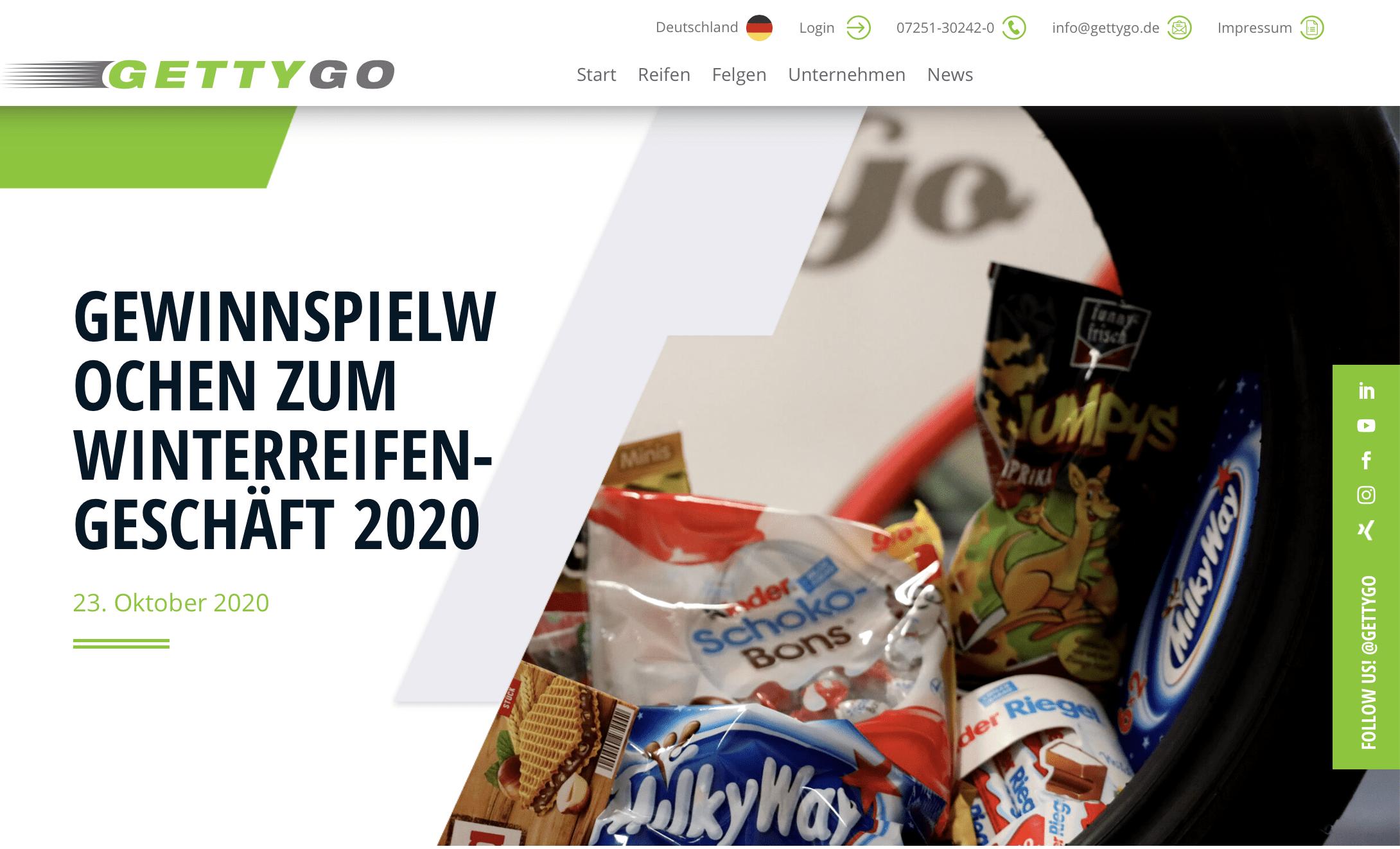 Gettygo startet B2B Gewinnspiel