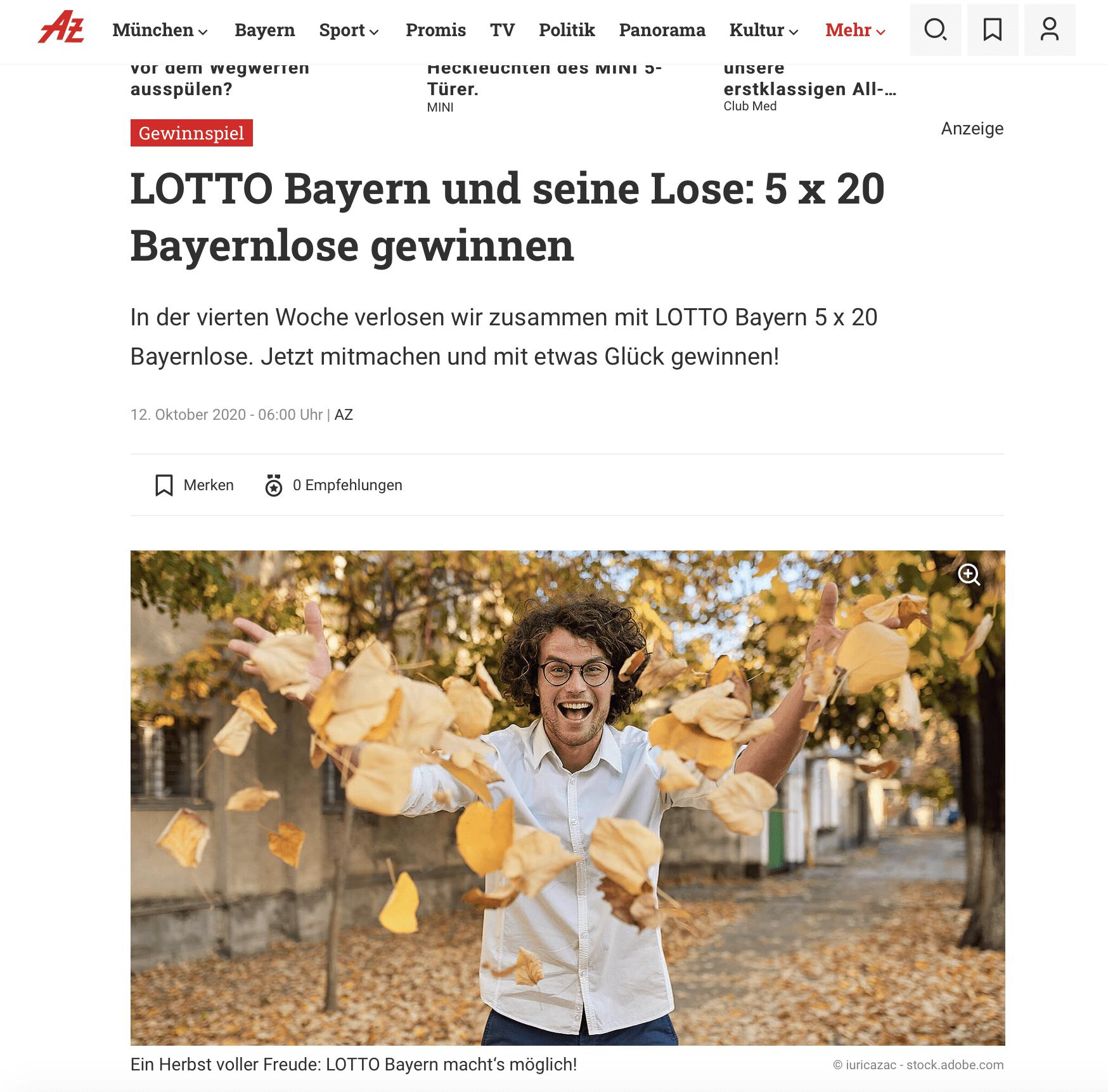 Gewinnspiel-Case Verlage Abendzeitung