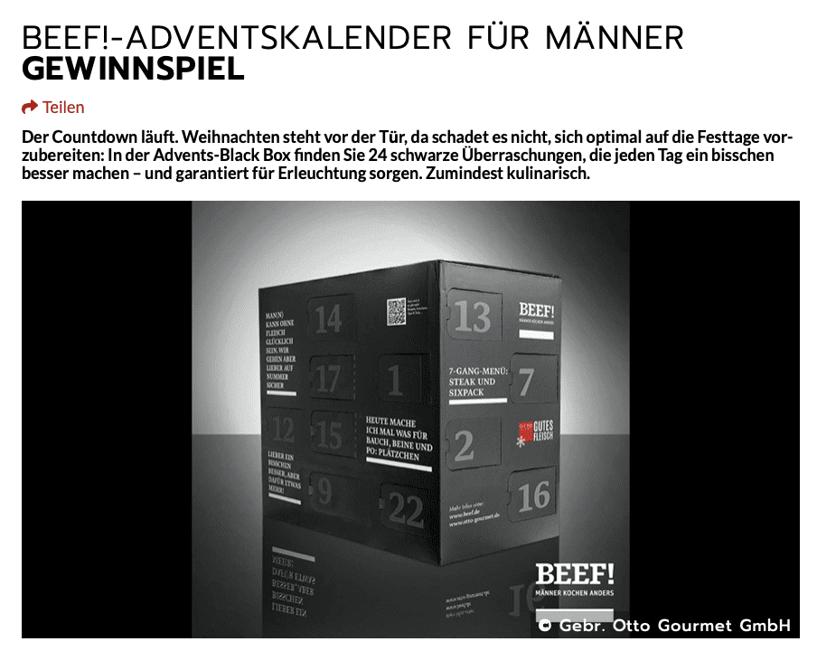 Beef! Cases Adventskalender Gewinnspiel