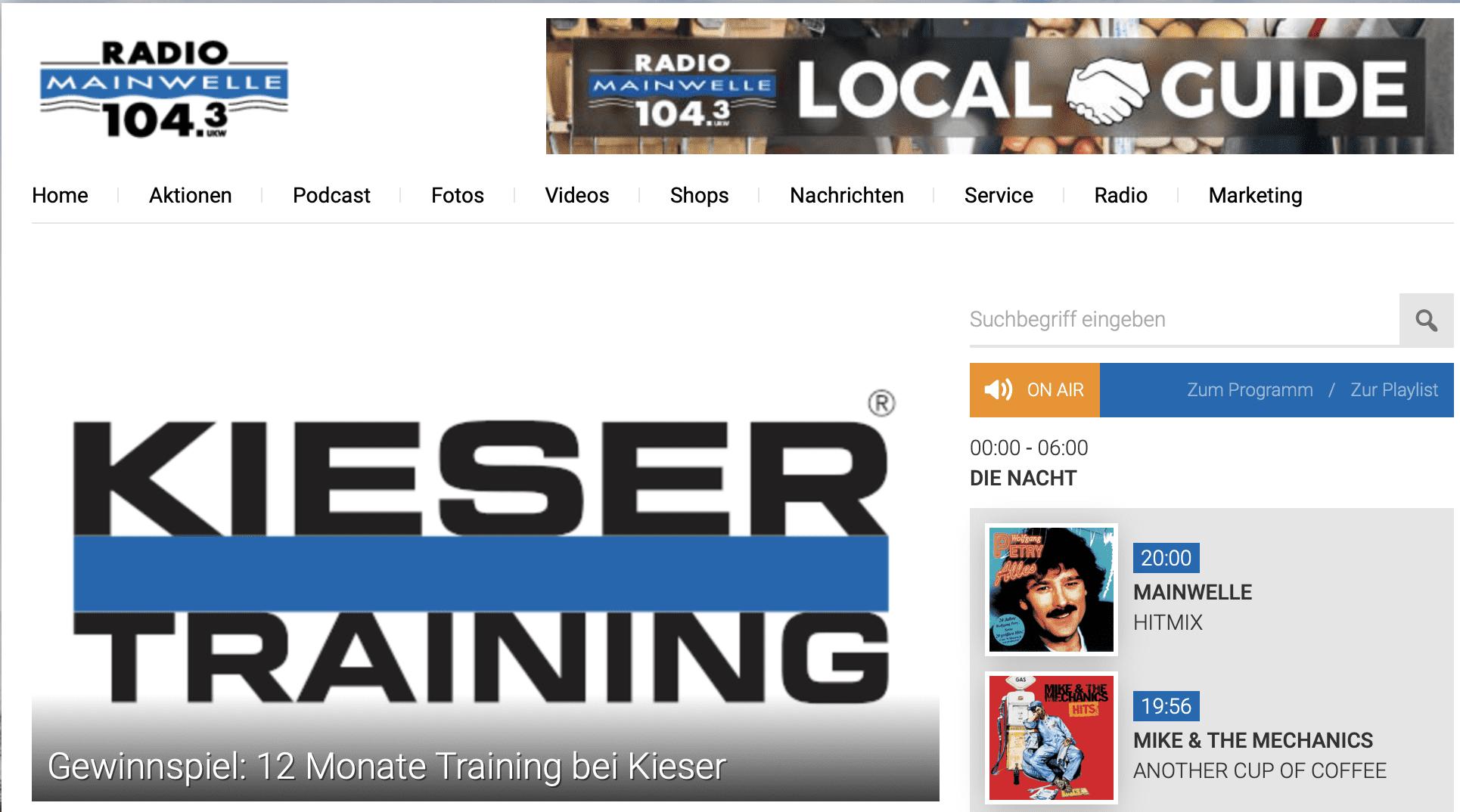Gewinnspiel-Cases Radio & TV Radio Mainwelle