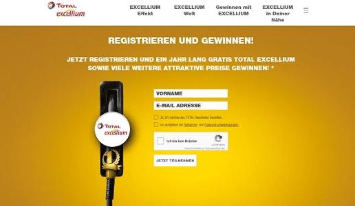 """Total Tankstellen-Gewinnspiel """"1 Jahr kostenlos tanken 2017"""""""
