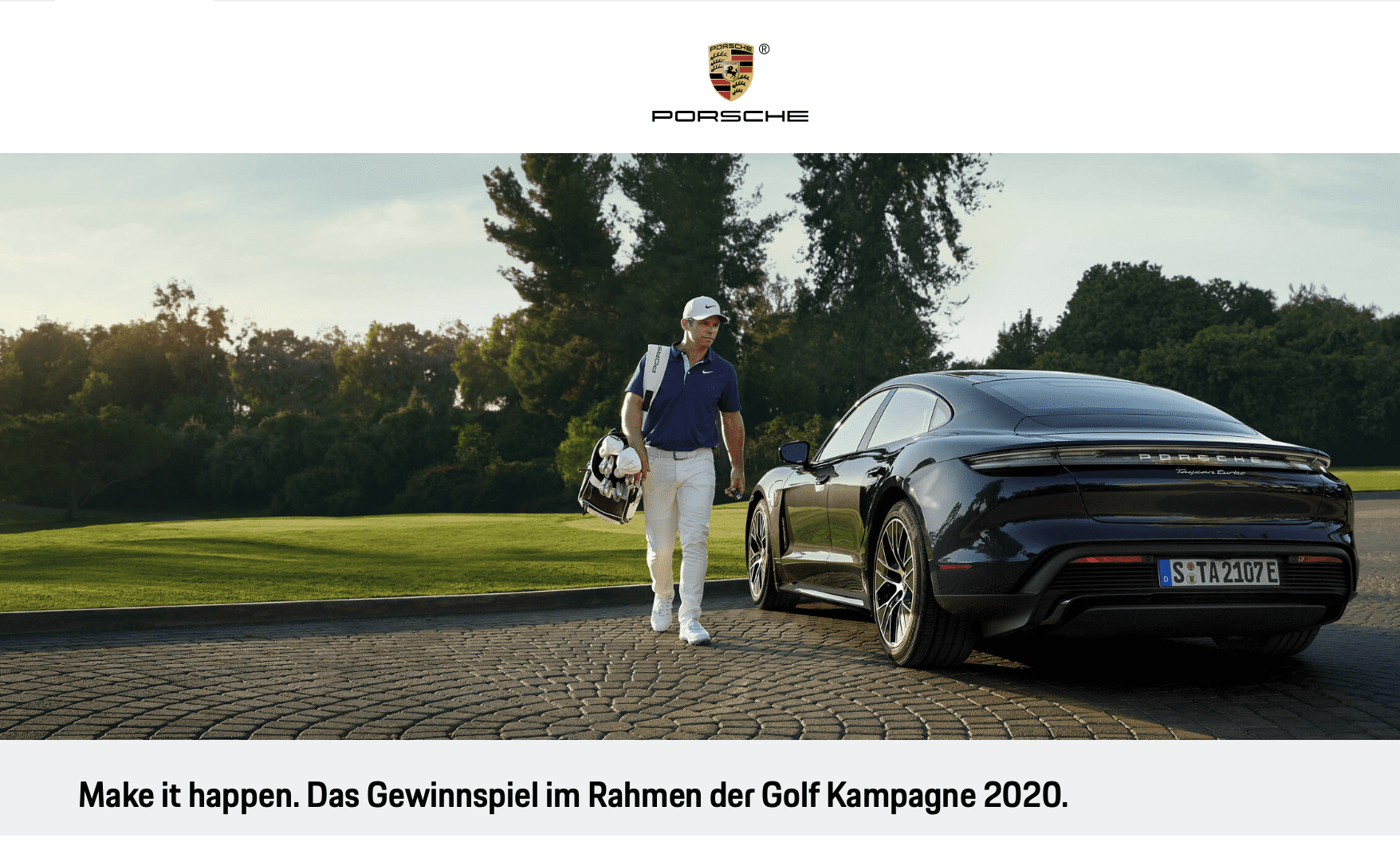 Das Gewinnspiel zur Porsche Golf Kampagne 2020