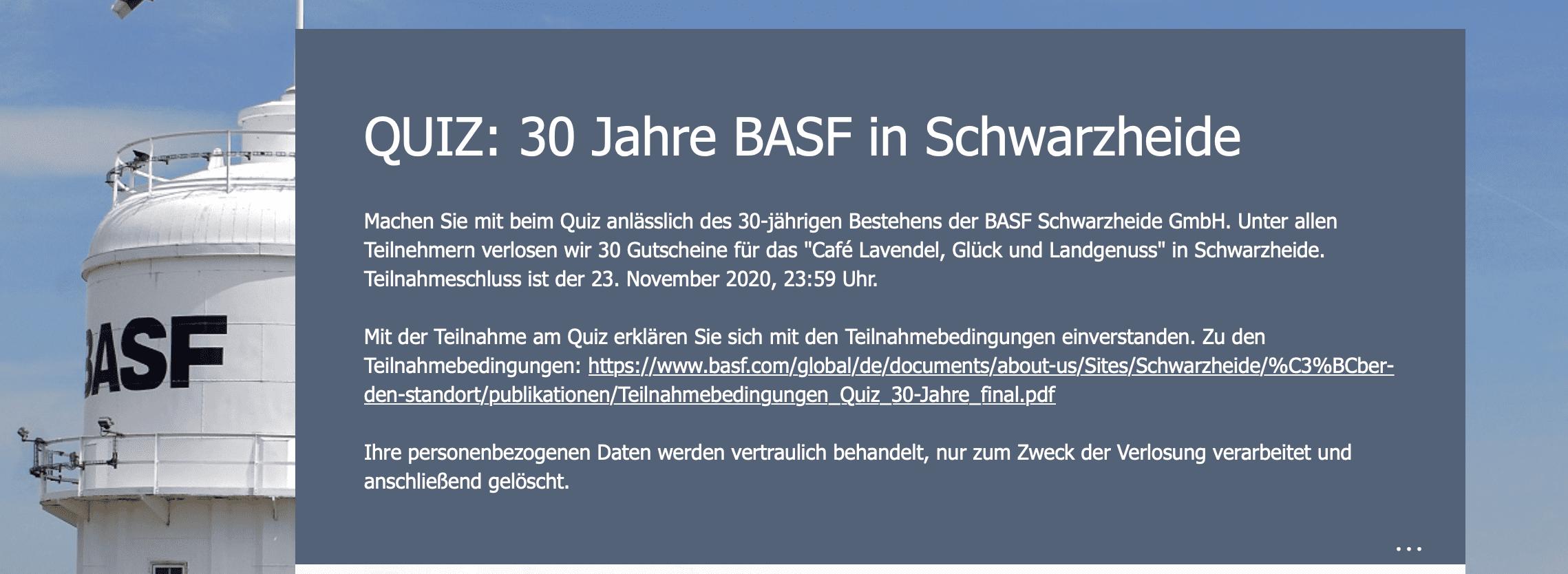 Gewinnspiel-Cases Dienstleistungen & Handwerk BASF