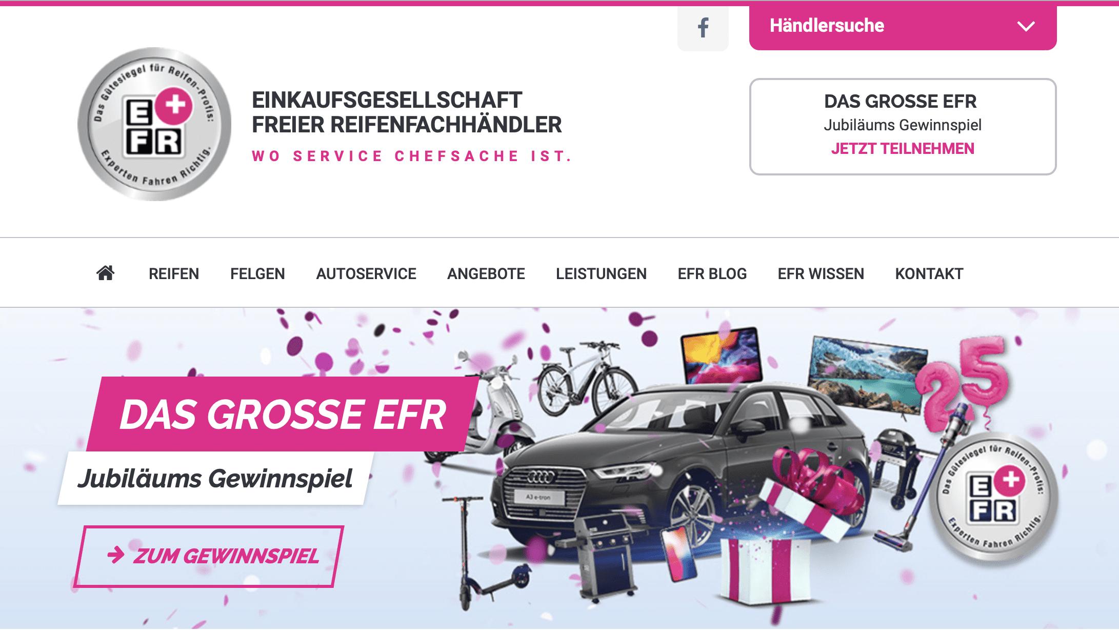 Gewinnspiel-Cases Markenartikler für Händler EFR
