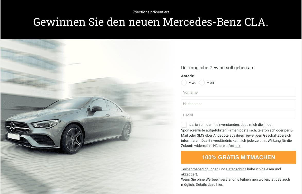 7sections präsentiert: Gewinnen Sie den neuen Mercedes-Benz CLA