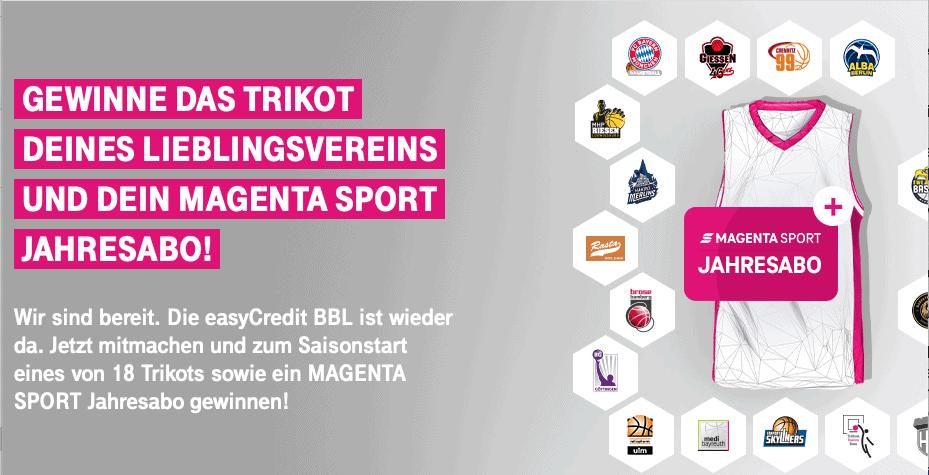 Trikot vom Lieblingsverein und ein Magenta Sport Jahresabo gewinnen!