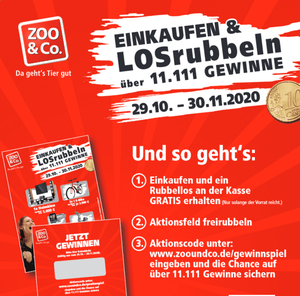 Gewinnspiel-Cases Tiermärkte & Tiernahrung Zoo&co