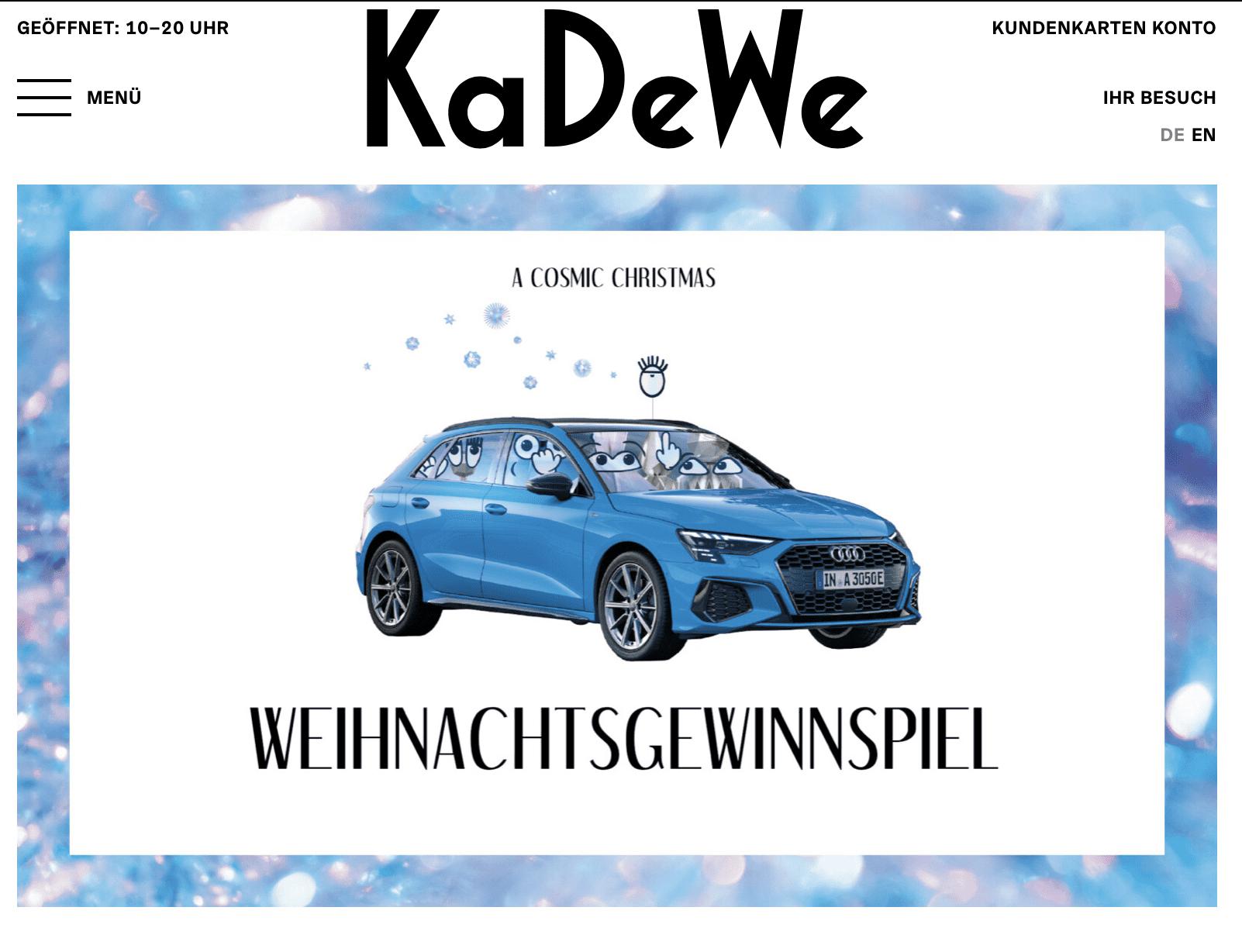 KaDeWe Cases Adventskalender-Gewinnspiele