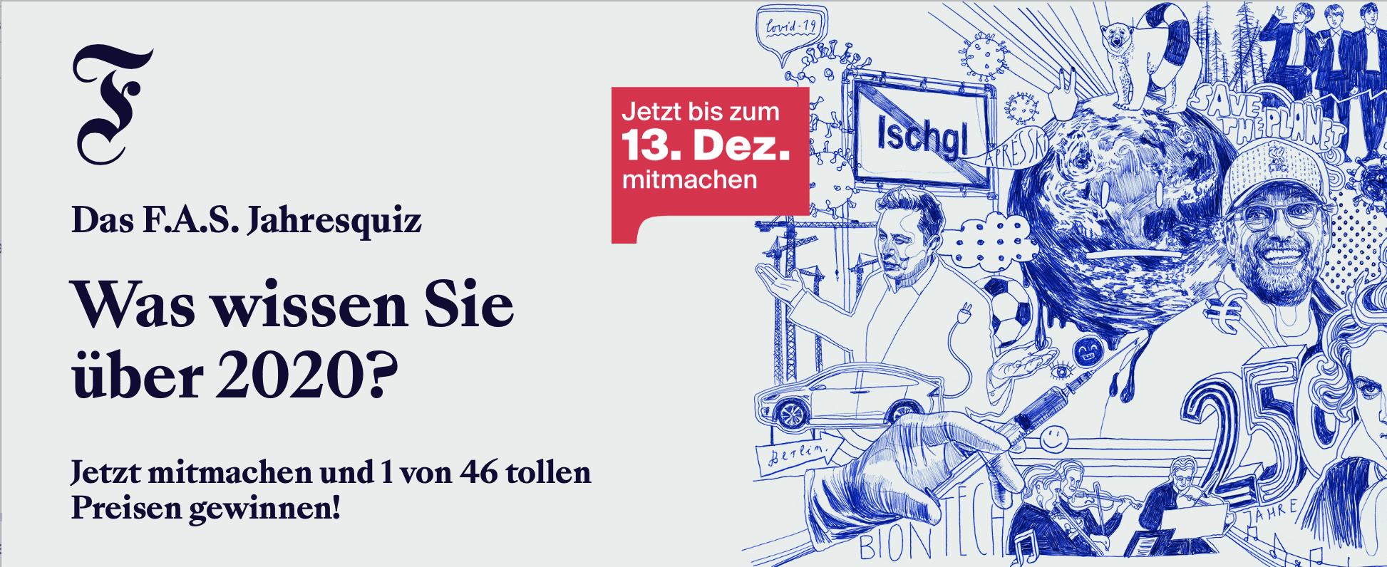 F.A.S. Jahresquiz 2020 Gewinnspiel-Case Verlage