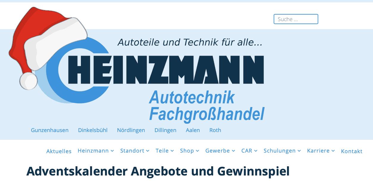 Heinzmann Autotechnik Adventskalender-Gewinnspiele