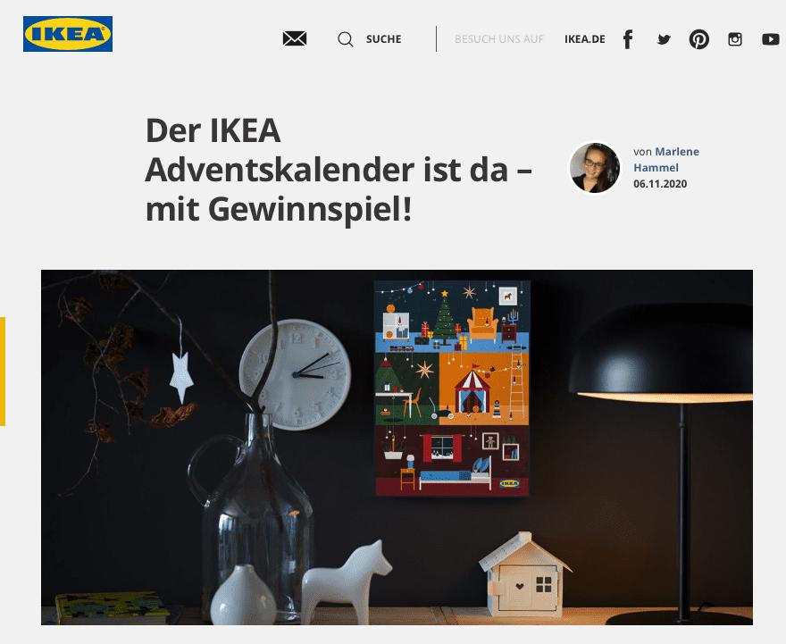 IKEA Cases Adventskalender-Gewinnspiele