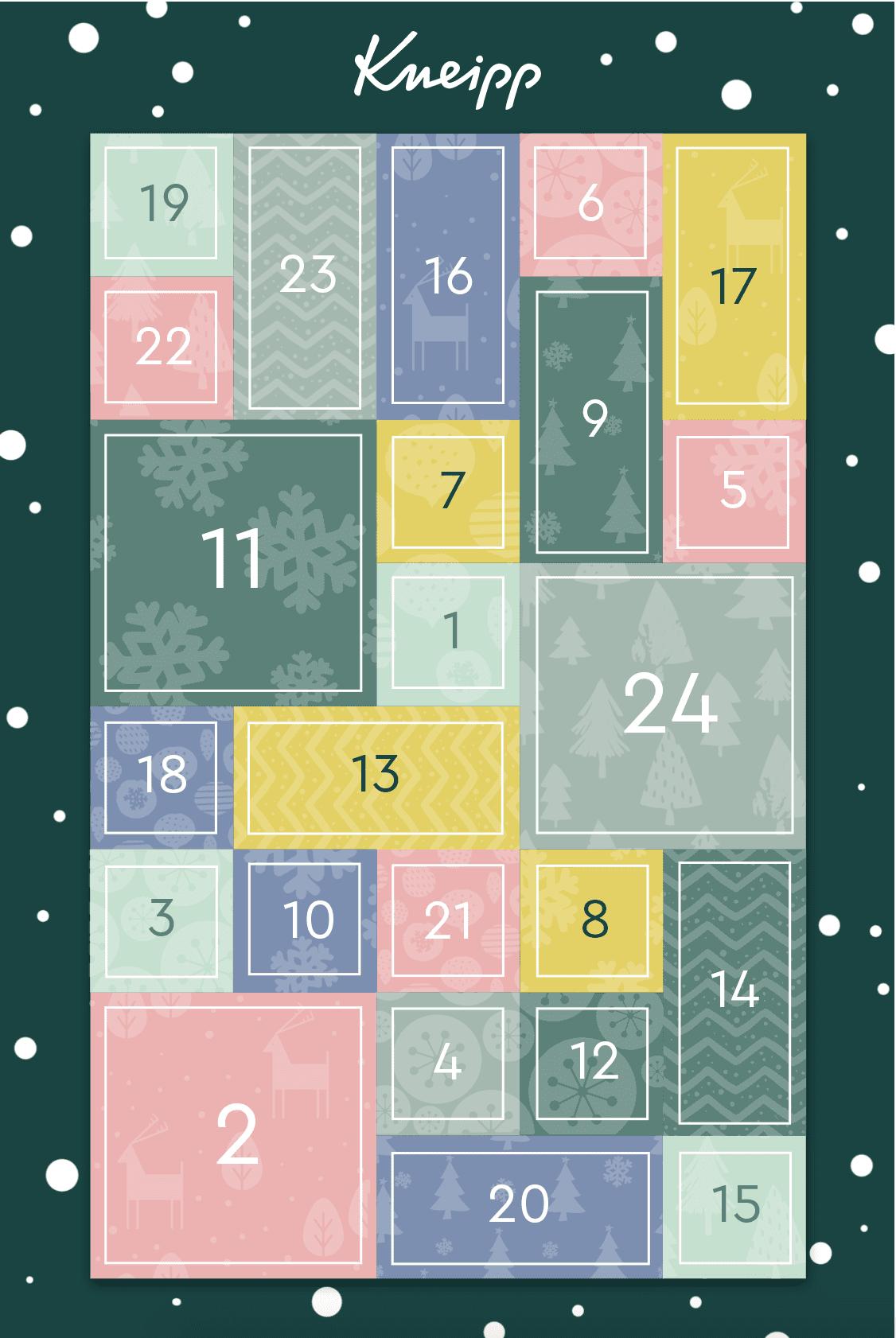 Kneipp Cases Adventskalender-Gewinnspiel