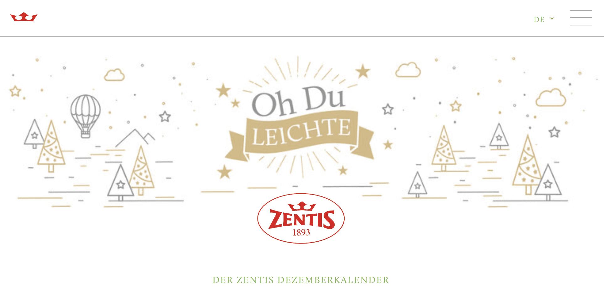 Zentis Cases Adventskalender-Gewinnspiel