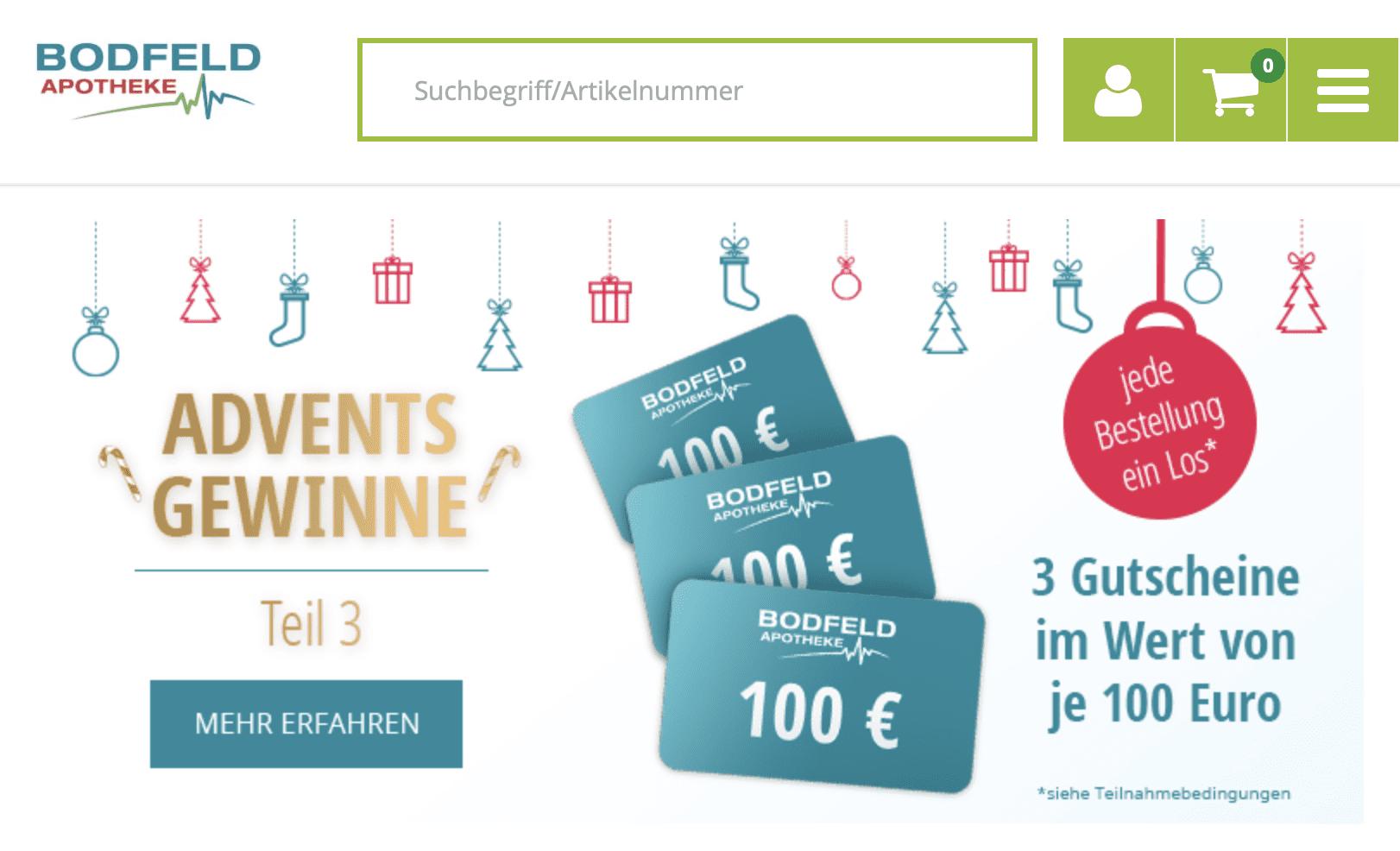 Bofeld Apotheke Adventskalender-Gewinnspiel