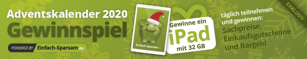 einfach-sparsam.de Cases Adventskalender-Gewinnspiel