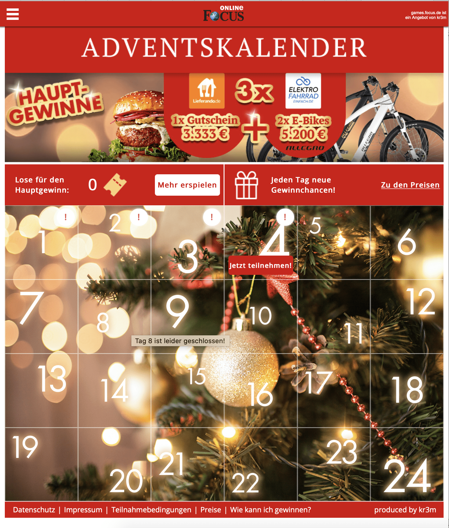 Focus Online Cases Adventskalender-Gewinnspiel