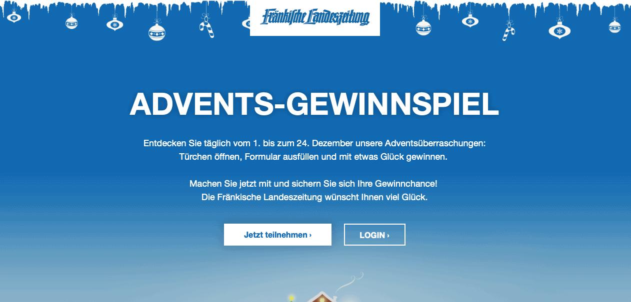 Fränkische Landesleitung Cases Adventskalender-Gewinnspiel