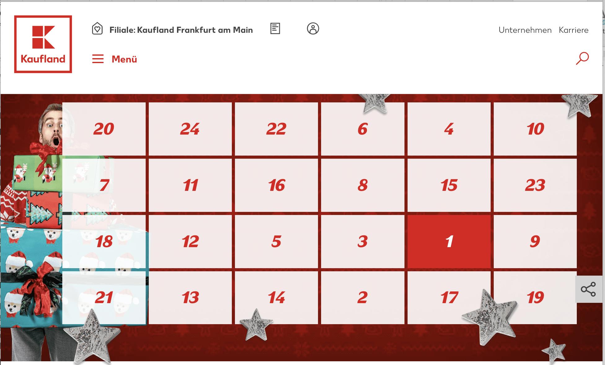 Kaufland Cases Adventskalender-Gewinnspiel
