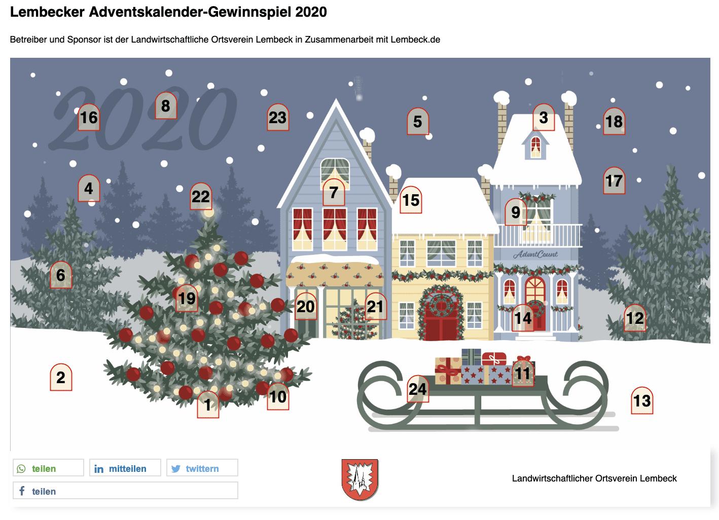 Lumbecken Adventskalender-Gewinnspiel
