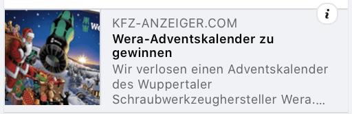 Wera Tools Cases Adventskalender-Gewinnspiele
