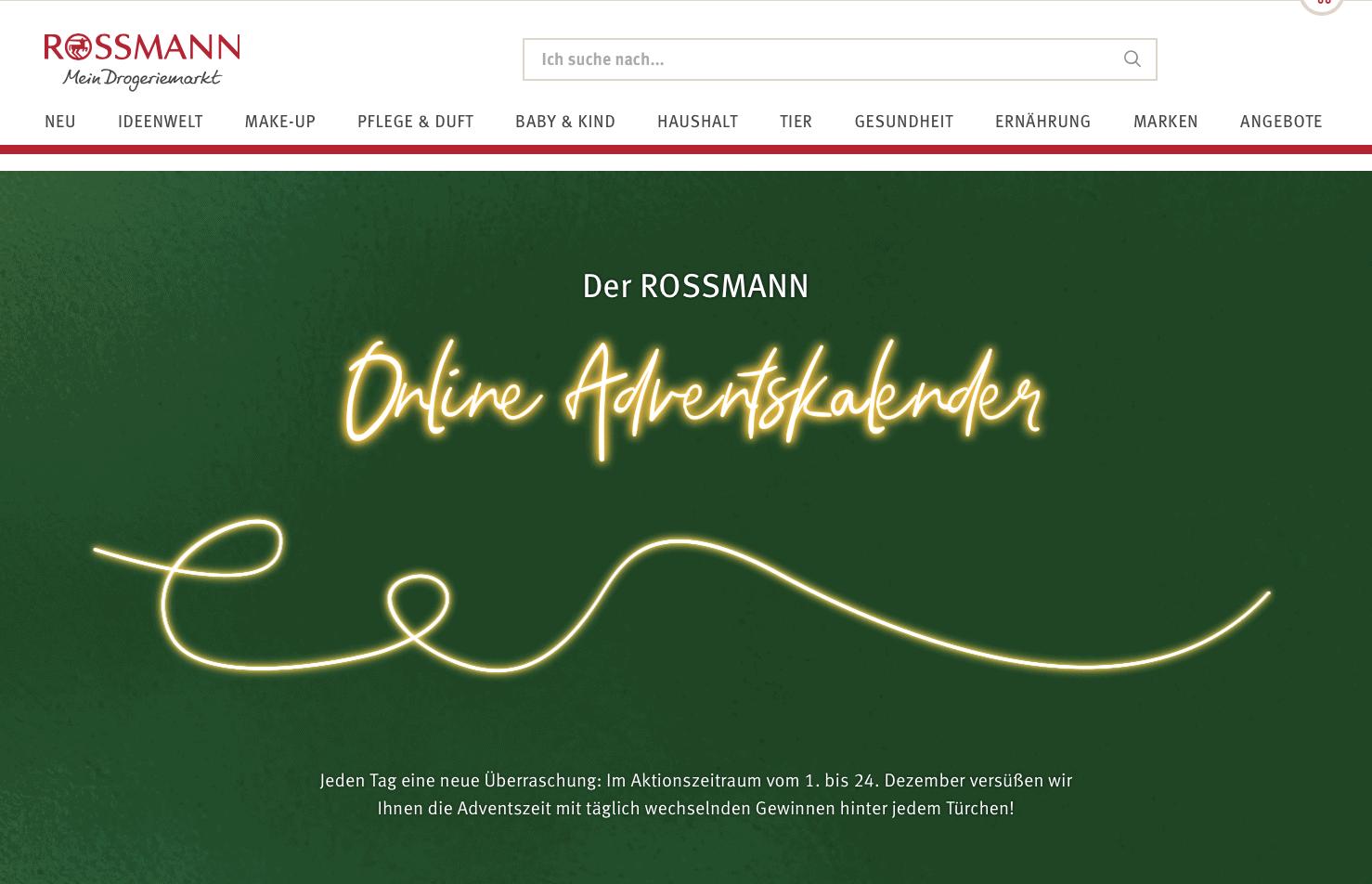 Rossmann Cases Adventskalender-Gewinnspiel