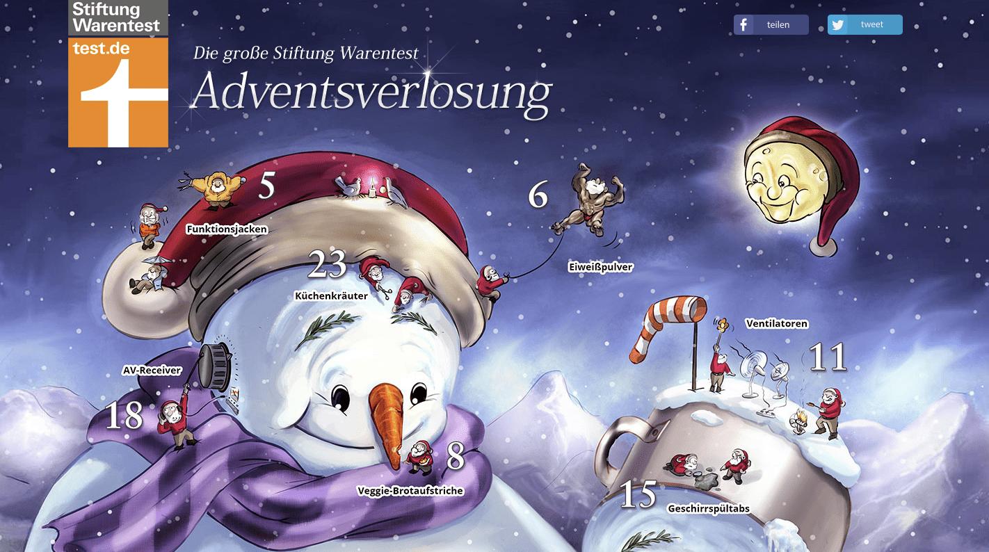 Stiftung Warentest Cases Adventskalender-Gewinnspiel